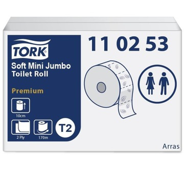 Papier toaletowy miękki Mini Jumbo - Tork 110253