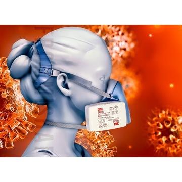 3M Maska 7500 Set z 6035 Wielorazowa P3 antywirus