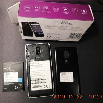 myPhone Pocket 18x9 czarno-srebrny -uszkodzony