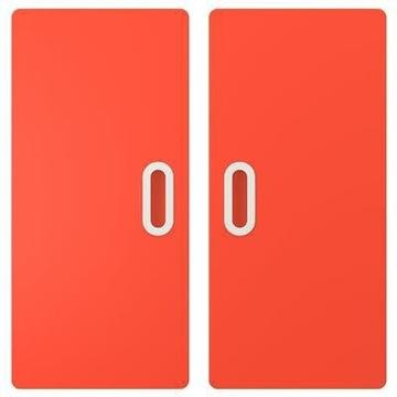 IKEA fronty Fritids czerwony drzwi 60x64 Stuva