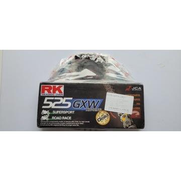 Zestaw Napedowy RK525 GXW XW ZŁOTY z zebatkami.