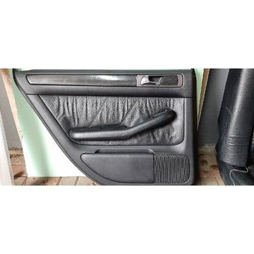 Fotele audi a6 c5 97-04 czarne skóra