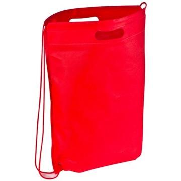 Worek sportowy torba na zakupy non-woven czerwony