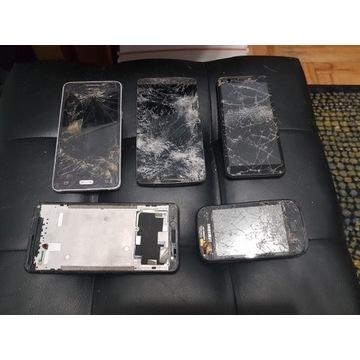 Licytacja 5 smartfonów uszkodzonych od 16zł