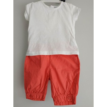 Komplet lato t-shirt spodenki 80 cm 12 m dziewczyn