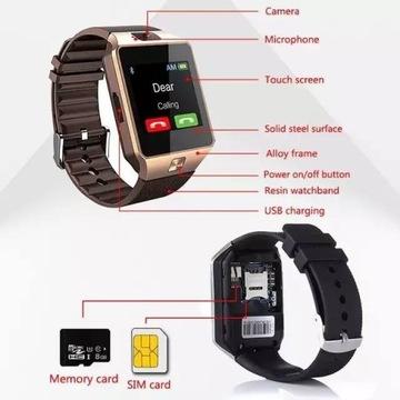 Smartwatch zegarek -telefon z kamerą