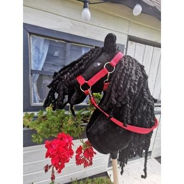 Koń Hobby Horse na kijku + zestaw - Black Prince
