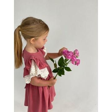 Sukienka dziewczęca Wiskoza 104/110 różowa