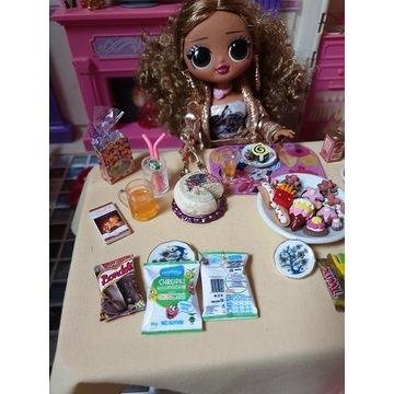 Chrupki -mini jedzenie dla lalek LOL OMG, Barbie
