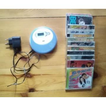Discman Grundig CDP5100 mp3 + ładowarka i cd