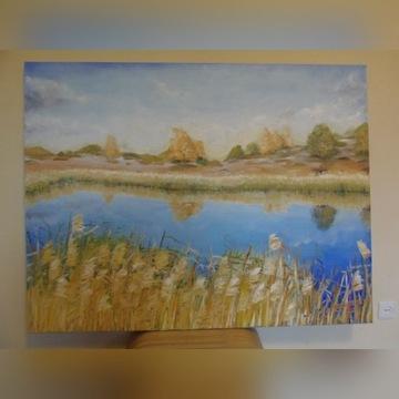 Duży obraz olejny 130 x 100