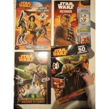 4 książeczki dla dzieci Star Wars z zadaniami