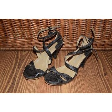 Lolablue wężowe sandałki szpilki nowe 38