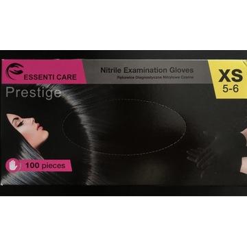 Rękawiczki jednorazowe XS czarne
