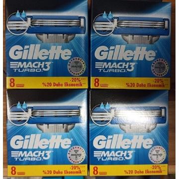 Gillette Mach3 Turbo - wkłady 8szt