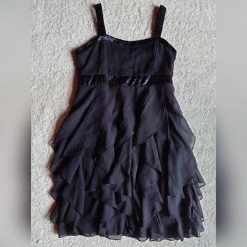 Czarna sukienka w rozmiarze 152 firmy H&M 11-12lat