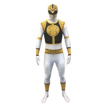 Strój Power Ranger biały karnawał