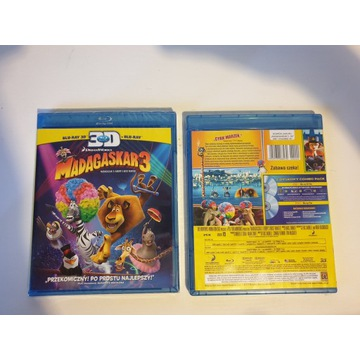 Madagaskar 3 - Blu Ray 3D + Blu Ray, PL – folia