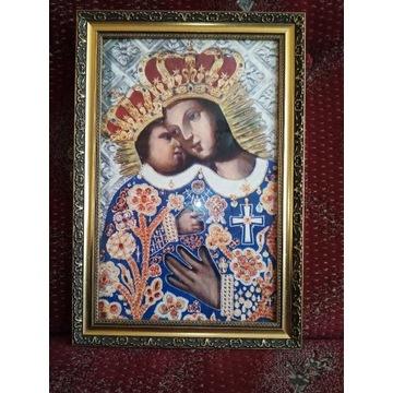 Matka Boża Kalwaryjska w pięknej, stylowej ramie