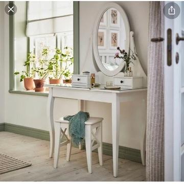 Toaletka HEMNES z taboretem jak nowa IKEA Toaletka
