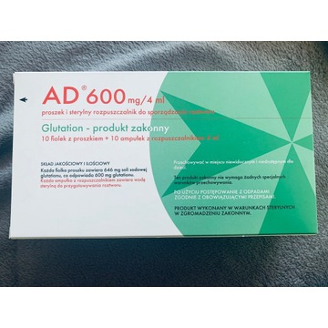 Glutation AD 600mg / 4 ml. 10 ampułek