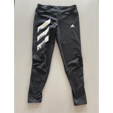 Czarne leginsy do biegania adidas S