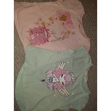 Dwie dziewczęce bluzeczki 92 idealne
