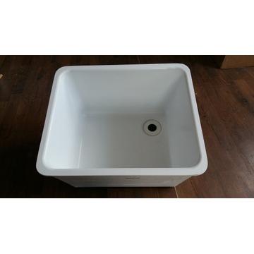 zlew ceramiczny,laboratoryjny,nakładany, gł 30cm