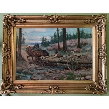 Mieczysław Krzyżak, olej na płótnie, 46 x 61 cm