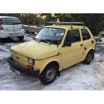 Polski Fiat 126p 650, maluch, 1983, piasek pustyni