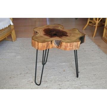Stolik kawowy drewniany - z plastra drzewa unikaln