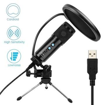 Profesjonalny mikrofon do nagrywania BM858 USB