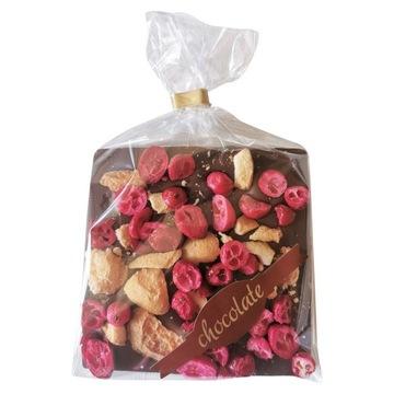 czekolada z brzoskwinią i żurawiną