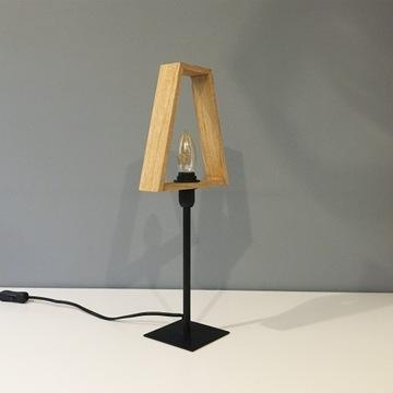 Lampka drewniana RAMKA TRÓJKĄT- stołowa