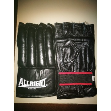 Rękawice MMA ALRIGHT XL + BANDAŻE 4 szt