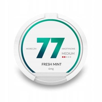 Saszetki nikotynowe 77 Fresh Mint 6mg 20 szt