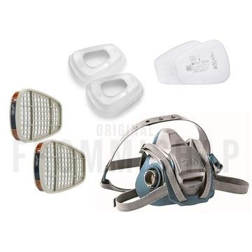 3M Maska 6503QL pochłaniacze 6055i filtry 5935 P3