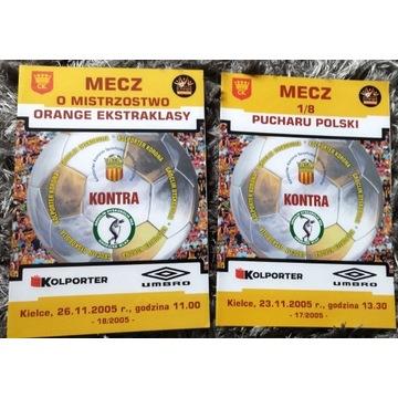 Program Korona Kielce Groclin Dyskobolia 2005 r.