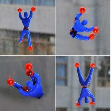 Zabawka Rubber Man skacze po ścianach i oknach