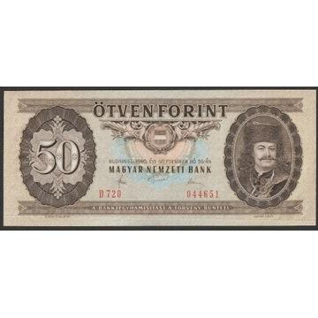 Węgry 50 forintów 1980 - Rakoczy - stan UNC