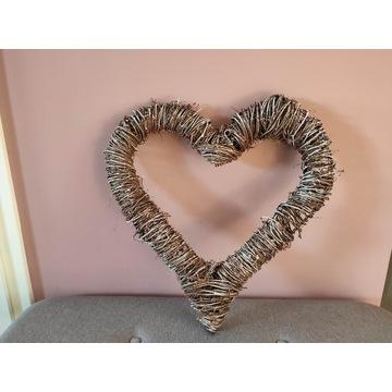 Serce wiklinowe (48 x 50 cm) - ozdoba