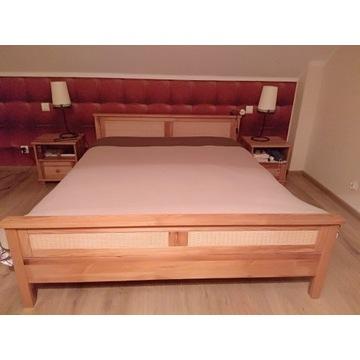 Sypialnia sosna, rattan lite drewno, duży komplet!