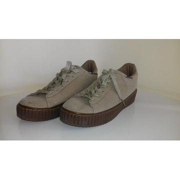 Creepersy Beżowe Buty Sportowe r.39