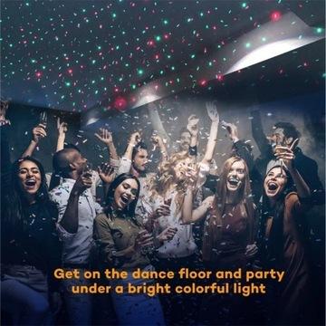 projektor laserowy dom dyskoteka party + pilot
