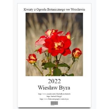 Kalendarz ścienny 2022 A3 Kwiaty