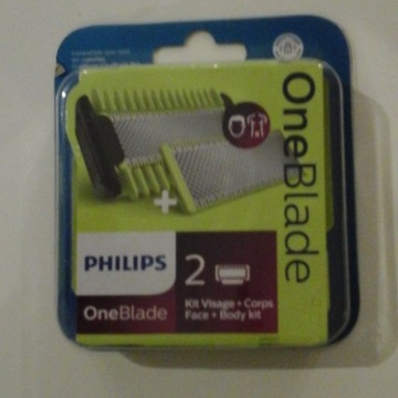 Philips One Blade face + body 2 szt !
