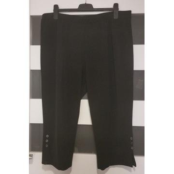 Spodnie czarne rybaczki elastyczne rozm. 56