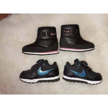 Kozaczki i adidasy Nike rozm. 21 jak nowe
