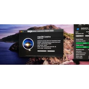 MacbookPro 13 TB 2017 CoreI5 16GB 256SSD 4 THb