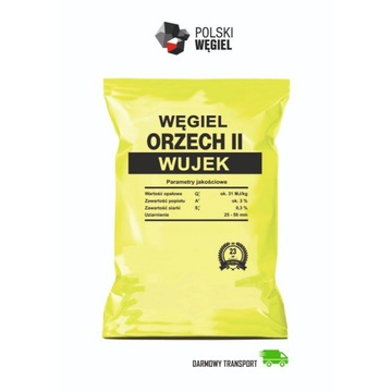 Węgiel WUJEK ORZECH II [31 MJ/kg] DOSTAWA GRATIS !